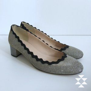 J Crew Silver Low Heeled Dressy Party Shoes 7
